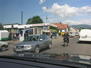 Driving in Khust