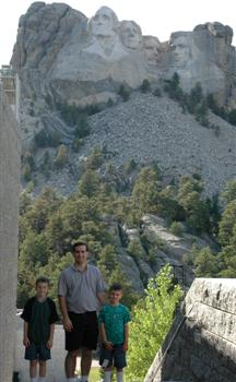 Rowlands at Mount Rushmore