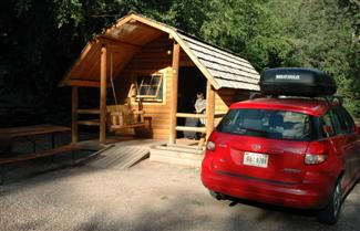 Cabin at Elk Creek Campground, New Castle, Colorado